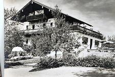 21745 AK Sonnenhügel Bad Heilbrunn Oberbayern Haus Liege Bäume Terrasse um 1960