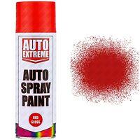 8 x 400ml Red Gloss Spray Paint Aerosol Can Auto Extreme Car Van Bike