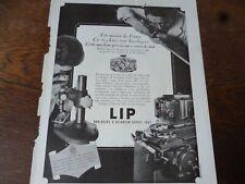 LIP montre 29 publicité papier FRANCE ILLUSTRATION 1945
