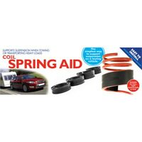 39-51mm Black Coil Spring Aid (single) - Suspension Rubber Assistor Towing