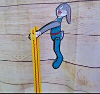 Vintage Bugs Bunny Wooden Acrobat Toy Gymnastics Looney Toons Flipping Wood