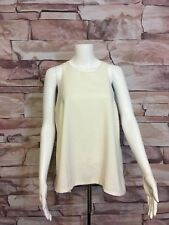 NWT Express Womens L Ivory Tank Dressy Fully Lined Cut Out Back