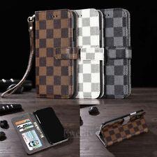 Роскошный Deluxe сетки бумажник откидной кожаный стойка карта чехол для Apple iPhone