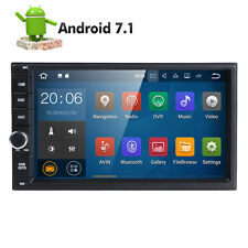 "7"" HD 2 Din 4 Core Android 7.1 Car Radio GPS NAV WiFi 4G DVR OBD MLK BT DAB+ USB"