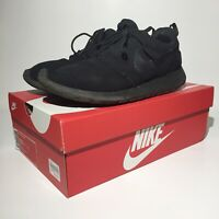 Nike Men's Roshe One Athletic Running Sneakers Mesh Black Shoes Size 10.5