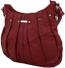 Damen / Damen Echtleder Handtasche/Schultertasche mit Nieten Design