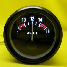 "Voltmeter Gauge 2"" Inch 12V Voltage Meter 52mm Round Car Auto Battery LED Light"