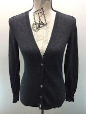 Banana Republic Women Cardigan Sweater XS Italian Yarn Gray Wool Cashmere L/S