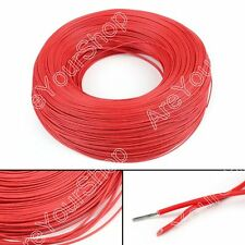 10M Red Flexible Stranded UL1007 22AWG Electronic Wire PVC Cable 300V ROHs B5