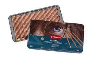 Derwent LIGHTFAST Professional Quality Oil Based Colour Pencils 36 Tin Set