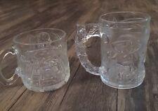 1995 McDonald's Batman Forever Lot of 2 Glass Mugs Batman -The Riddler
