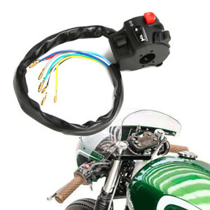 "12V Motorcycle 7/8"" Handle Bar Ignition Engine Stop Lamp Horn Light ATV Switch"