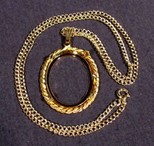 Wholesale Lot Of Vintage Gold Plated Cabochon & Chain Mounts / One Price All