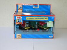 Wooden Thomas - Salty and the Shipping Cars - Learning Curve - Brand New - Rare