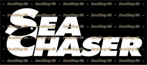Sea Chaser Boats - Outdoors - Car/SUV/Truck Vinyl Die-Cut Peel N' Stick Decals