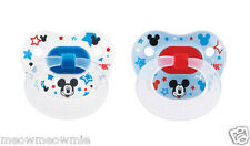 NUK Disney Mickey Mouse Orthodontic Silicone Pacifier 2 Pack (0-6 Months) Size 1