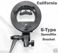 S-Type Bracket Bowens S Mount Holder for Speedlite Flash Snoot Softbox Stype