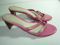 WOMENS PINK FLIP FLOPS THONGS SANDALS COMFORT CAREER DRESS HEELS SHOES SIZE 7 M