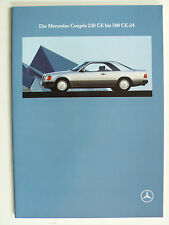 Prospekt Mercedes C 124 Coupes - 230 CE - 300 CE-24,  8.1991, 34 Seiten