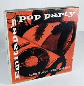 Vintage Emitape's Pop Party Twin Track Mono Tape - Reel to Reel Inc The Beatles