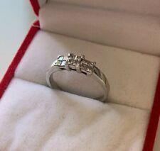 18ct White Gold Princess Cut Diamond Cluster Ring Size L