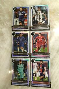 2020-21 Topps Museum UEFA Champions League Base Card Lot (x6) Dybala Lewandowski