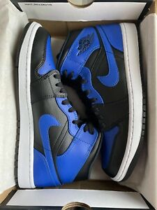 Nike Air Jordan 1 Mid Royal (2020) Men's Size 8.5 Hyper Royal