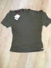 GSUS Sindustries Ladies T Shirt Olive Green BNWT RRP £29.99 Size Extra Small