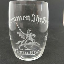 1897 August Schell's Beer New Ulm Mn Pre Prohibition Etched glass Herman German