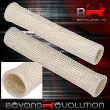For Suzuki Slip On Spark Plug Wire Heat Sleeve Insulation Wrap Racing Silver