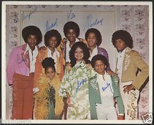 THE JACKSONS Signed (by 7) Photograph - Pop Star Singers / Group - preprint