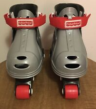 Kids Fisher-Price Grow With Me Inline Adjustable Roller Skates Gray 1-3