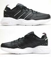 Adidas Women Shoes Sneakers Strutter Lifestyle Fashion Leather Black New EG2688
