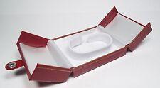 Watch Storage Box Bracelet Display Case Jewelry Gift Organizer Leatherette Red