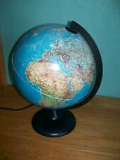 Tecnodidattica Orion 25 Vintage Light Up World Globe UK safety Lamp