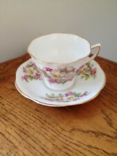 Vintage Clare Bone China Tea Cup & Saucer Set Gold Detail England Numbered