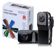 Mini Dv Spy Cámara Digital Audio Video Rec Micro SD Card MD80 Webcam SC0
