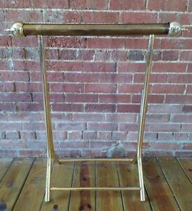 Lightweight Brass Gold Quilt Towel Blanket Rack Stand Floor Towel Holder