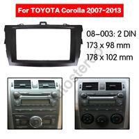 2 Din Car Radio fascia Facia Panel Adapter for TOYOTA Corolla 2007-2013 (Black)