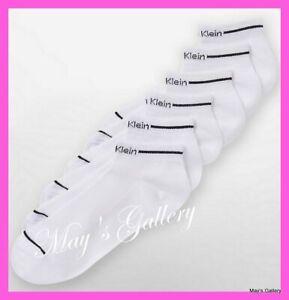 Calvin Klein CK 6 pair Socks Sock Woman Athletic Low Cut  Sport  Ankle C K NWT