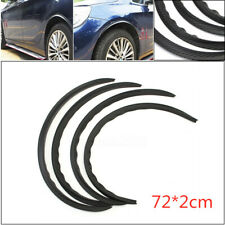 4x Carbon Fiber Auto Car Wheel Eyebrow Arch Trim Lips Fender Flares Protector