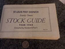 1963 Stock Guide by Standard and Poor's St Louis Post Dispatch security owners