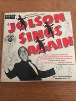 """Al Jolson, """"Jolson Sings Again"""", 78 rpm Decca Album A-716, 1949"""