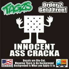 Innocent A** Cracka Funny DieCut Vinyl Window Decal Sticker Car Truck SUV JDM