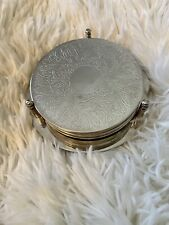 Vintage Silver Plate Coaster Set of 6 - Excellent Condition - Barware Home Decor