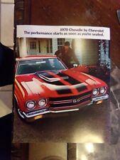 ORIGINAL 1970 CHEVROLET CHEVELLE DEALER SALES BROCHURE SS 454 LS6 396