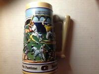 1990 Budweiser America's Favorite Pastime Baseball Themed Stein Limited Edition