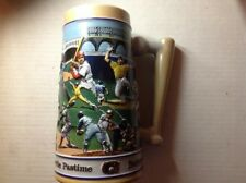 1990 Budweiser Americas Favorite Pastime Baseball Themed Stein Limited Edition