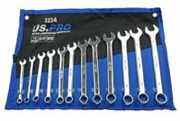 US PRO METRIC COMBINATION SPANNERS WRENCHES 12pc SET 8-19mm Open Ring 3234 NEW