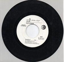 PATTY PRAVO EDUARDO DE CRESENZO disco 45 g. MADE in ITALY Promo Juke Box PAROLE